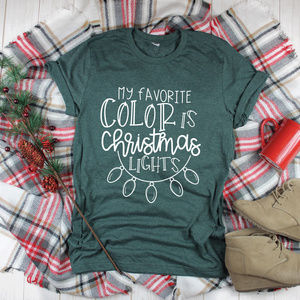 Christmas Tshirt - Heather forest unisex Tee